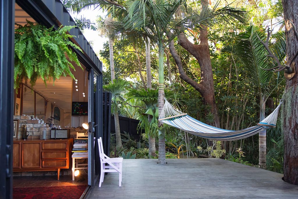 The most relaxing seat in the house, The hammock under the trees.