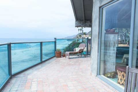 Beach Front House With Surf