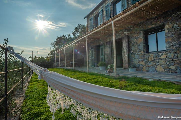 Villa vista mare, in un uliveto fronte PORTOFINO