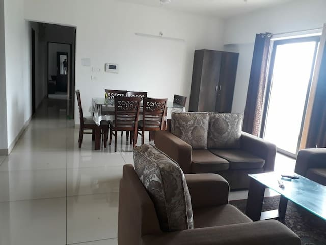 Living Room with Sofa + Dinning Table