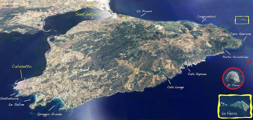 spiagge isola di sant'antioco, a pochi km