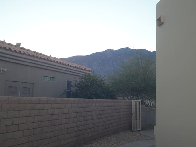 view of Mt San Jacinto from patio