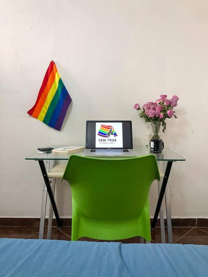 Casa Frida, Refugio LGBT- Experiencia