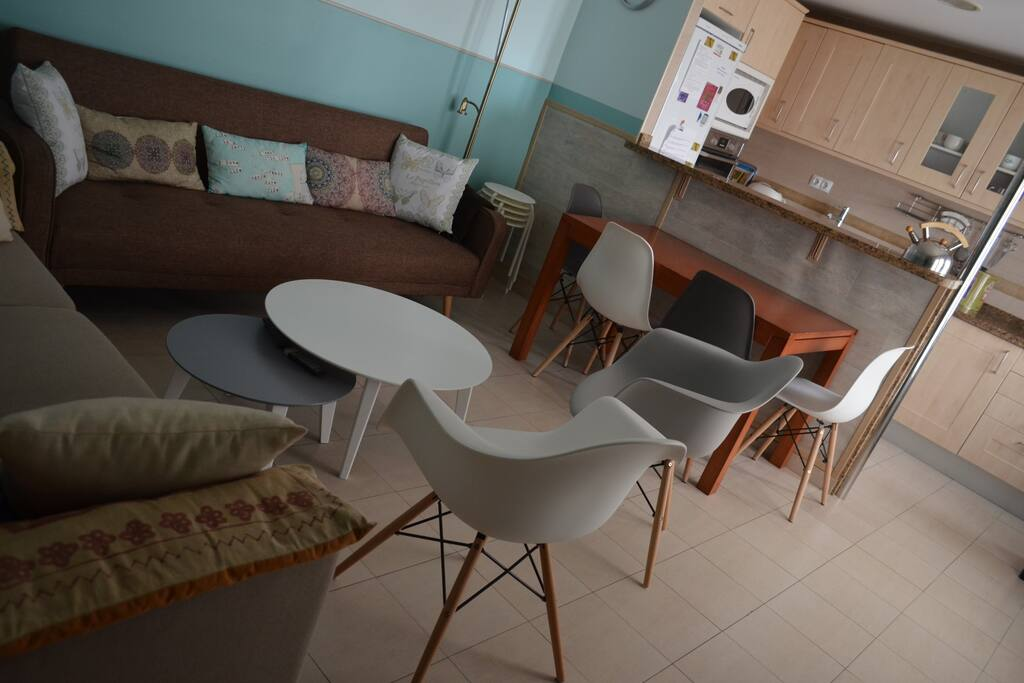 Zona de estar, comedor, cocina...