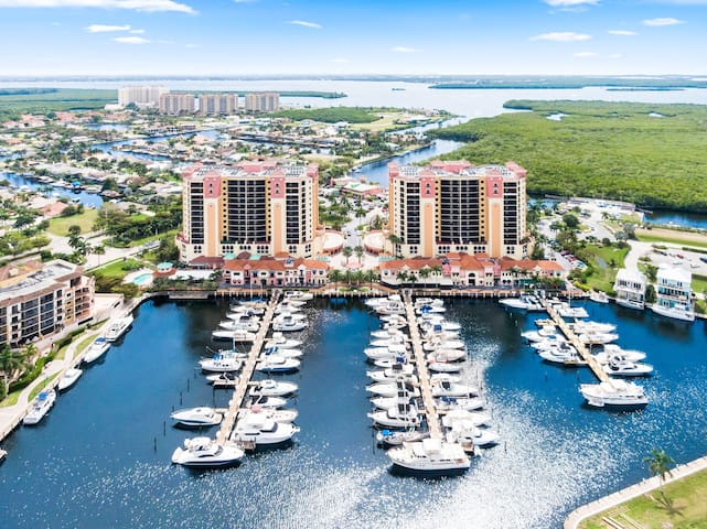 This prime complex is located directly on the marina.