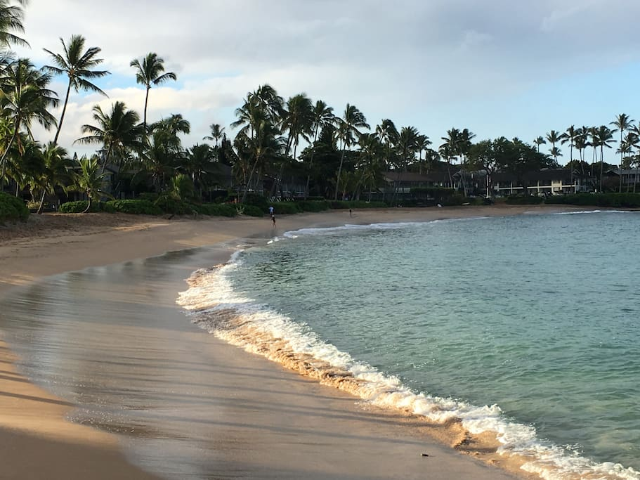 Beautiful Napili Bay. Our condo is just steps to this bay.