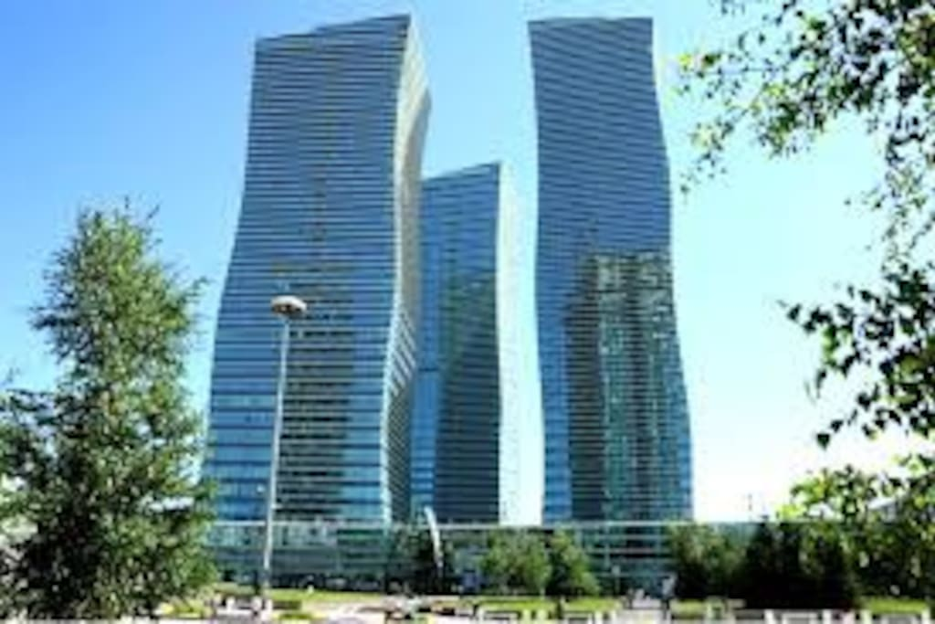 A modern residential complex in 44 floors, adorns the very center of Astana!