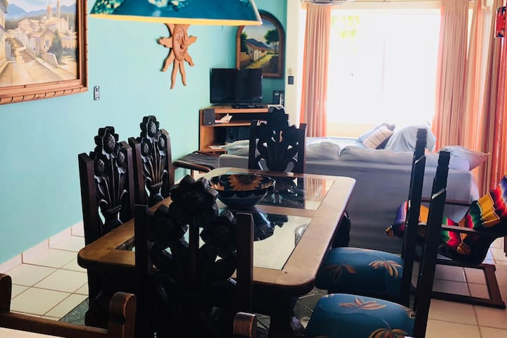 Aining and living room.