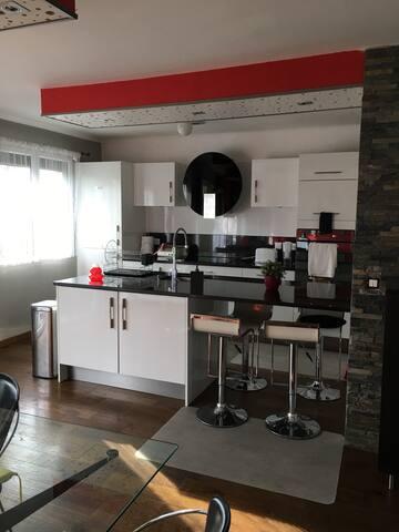 Maison à la frontière de Genève