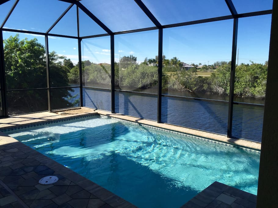 Saltwater pool, overlooking the canal.