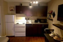 A full kitchen with all the amenities of home.