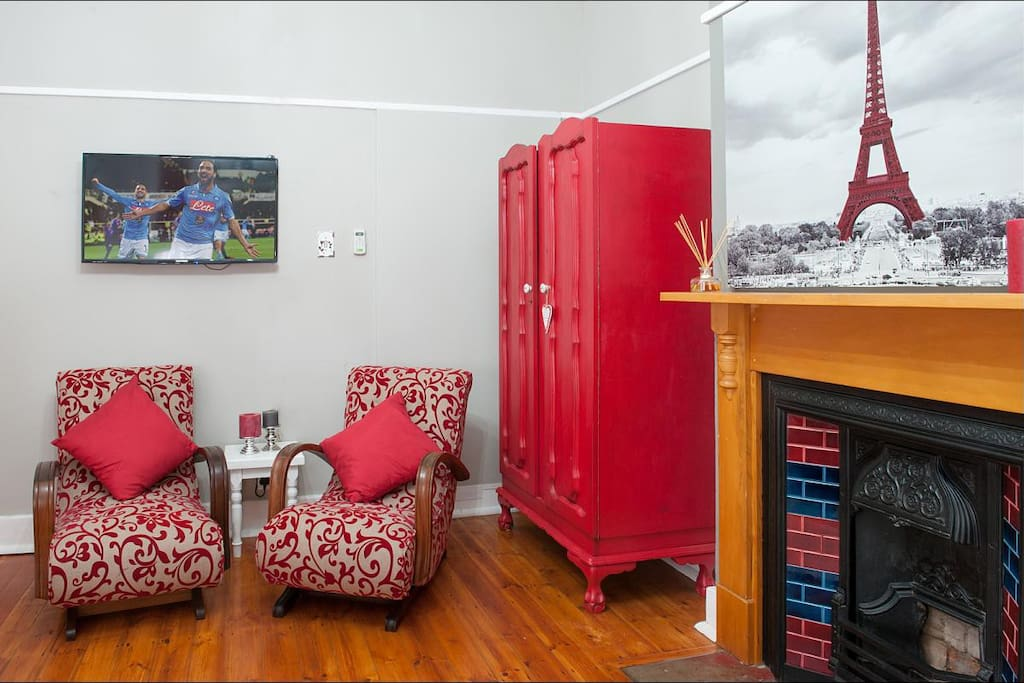 Red Room Seating Area