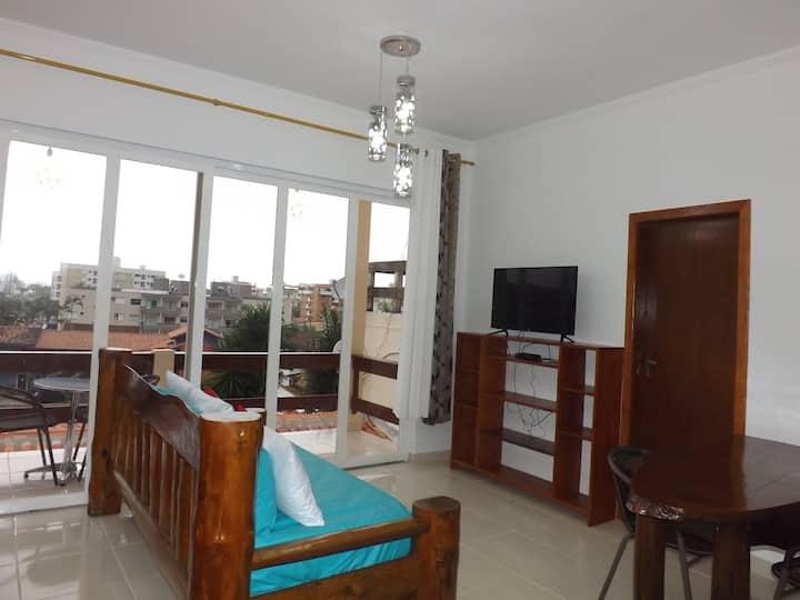 Apartamento Vista mar  com Banheira e Piscina