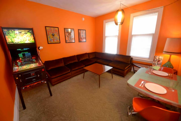 Colorful Heritage Hill Apartment w/ Pinball!