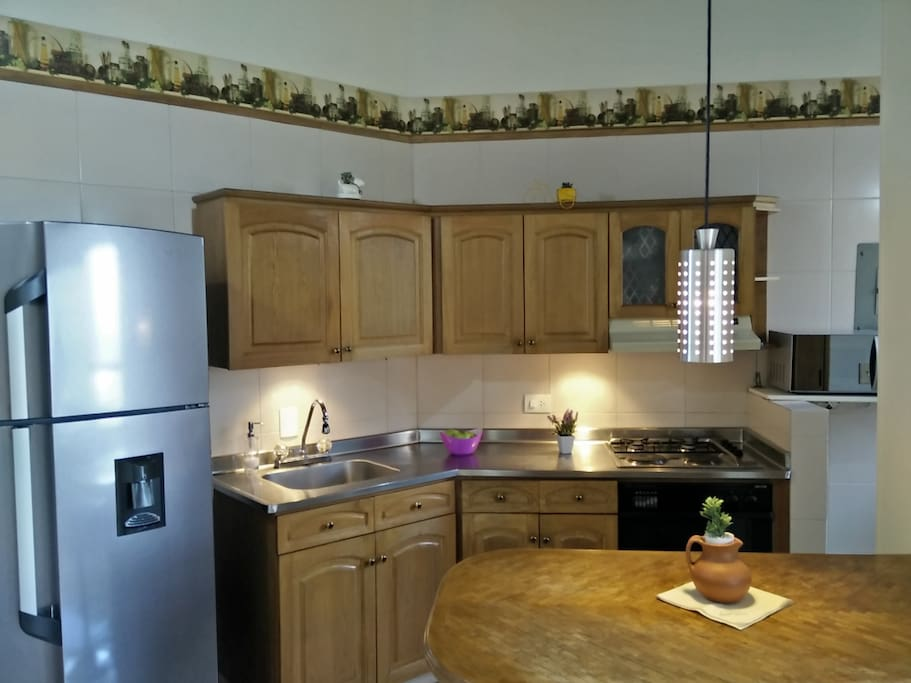 Comfortable, complete and very clean kitchen