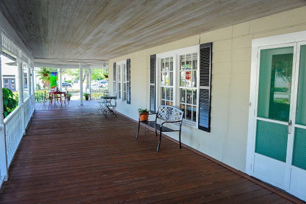 Side portion of porch