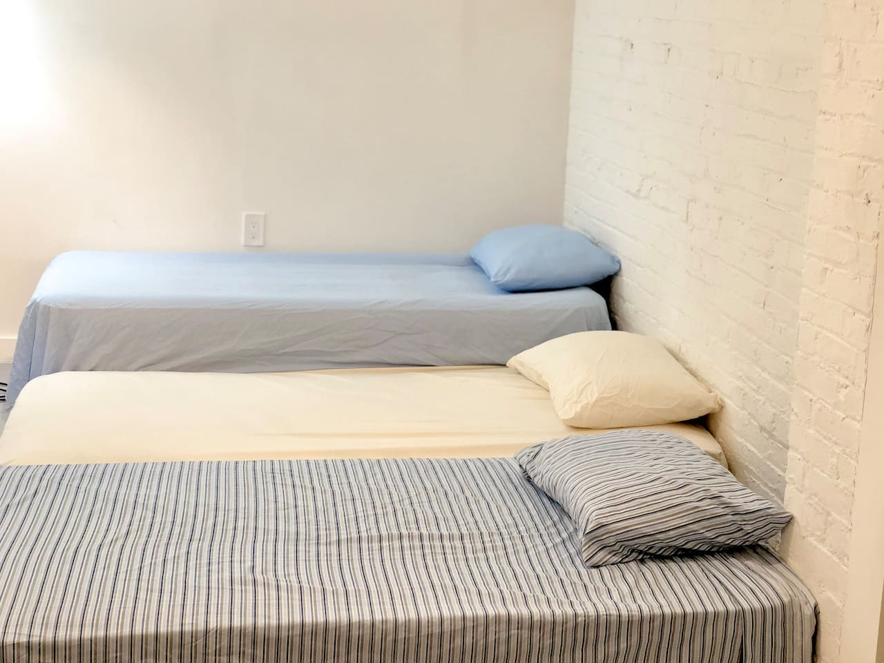 Three Single Beds, Full night rest