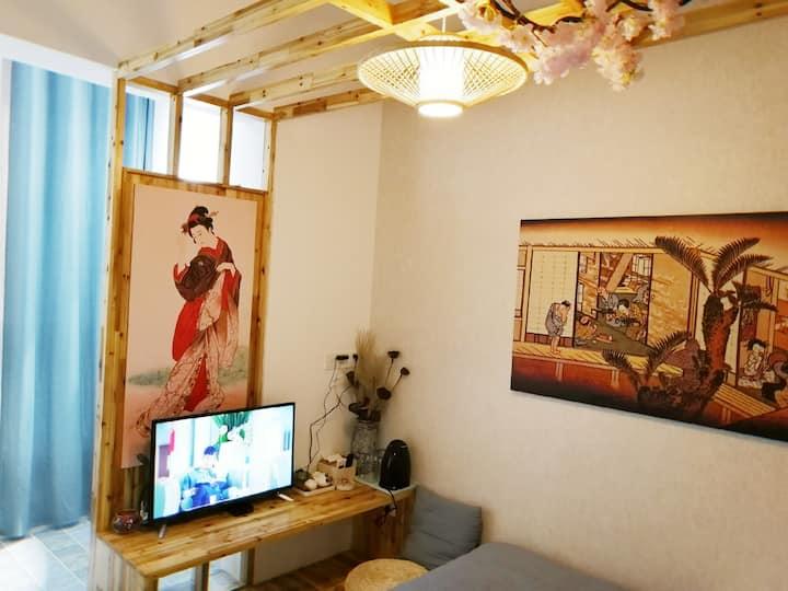 清新日系风格精品公寓,紧邻火车站地铁一号线长淮站