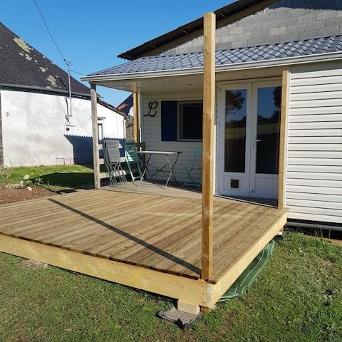 Mobilhome avec terrasse