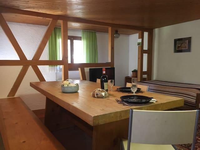 Appartamento rustico tranquillo e nel verde - Avegno - Departamento