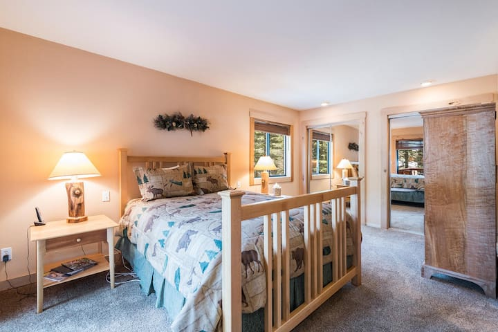 Master bedroom with tons of light and access to the deck.