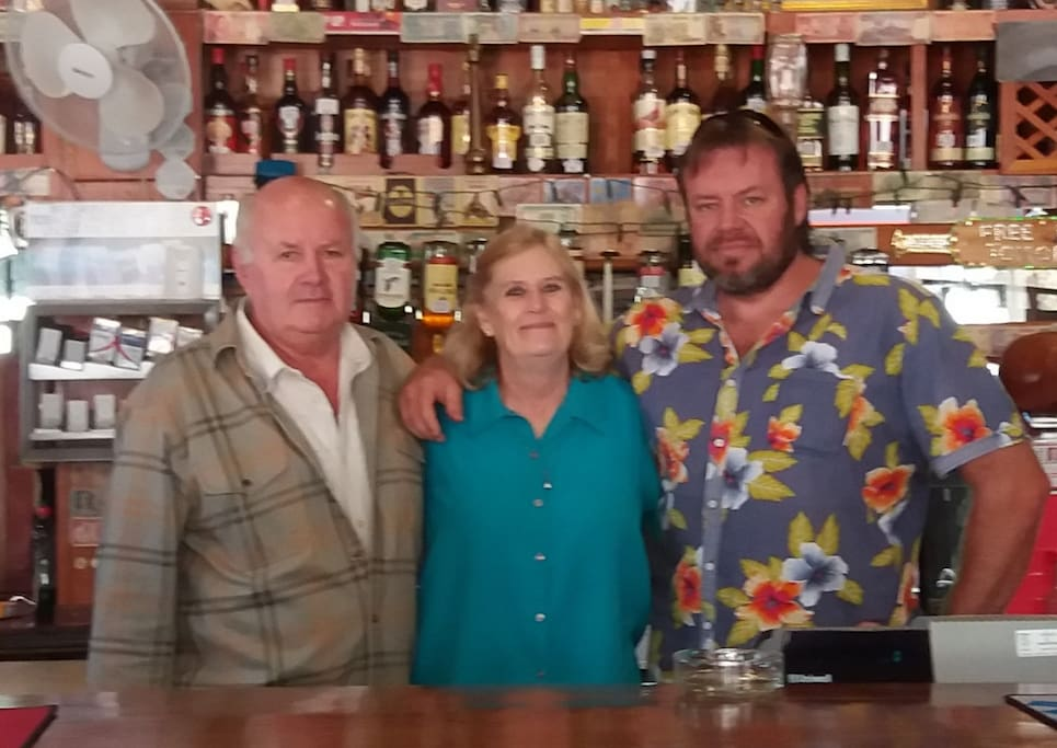 Owners of The Grey's Inn - Ged, Barbs & Michael Crawford