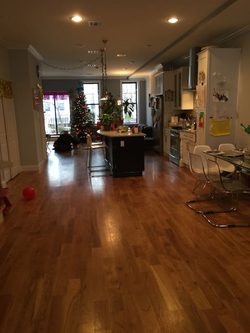 Duplex with a shared living room dining kitchen