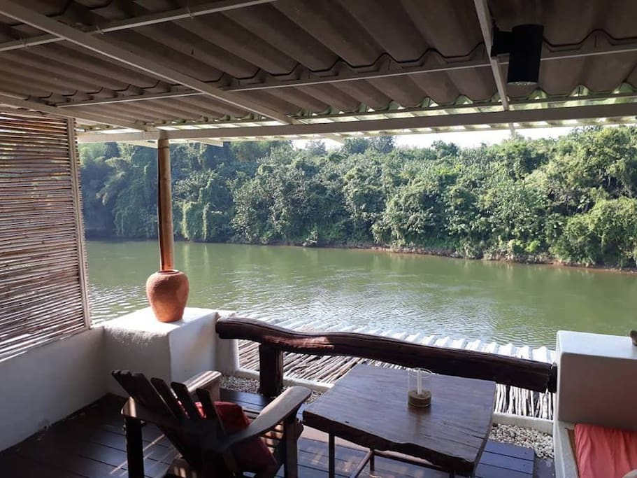 You could spend hours gazing into the River Kwai from this vantage point at our terrace.