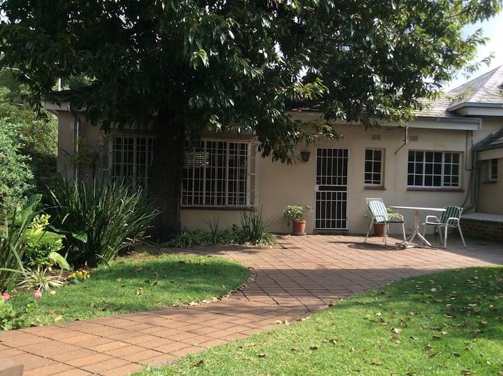 Garden flat in the suburbs