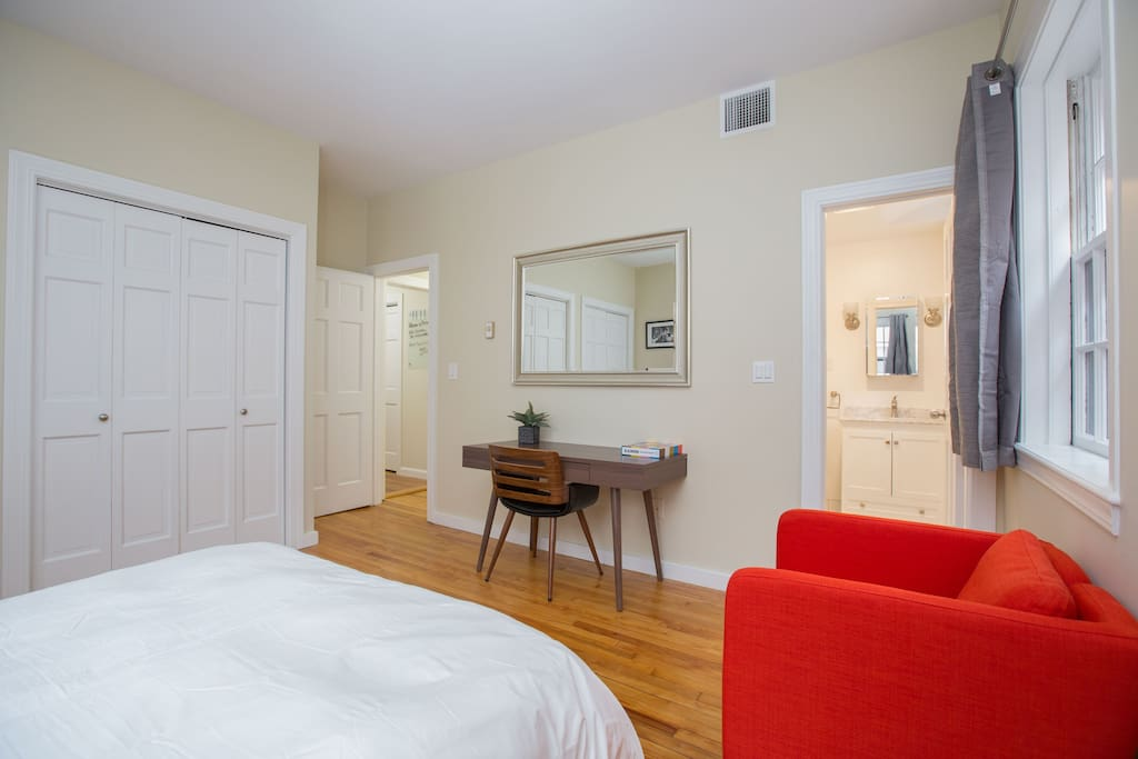 Furnished with new desk and private bathroom