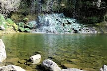 The Black Waterfall is in the the ElAl ravine. 30-40 minutes walking distance from the cabin if you're into a short hike.
