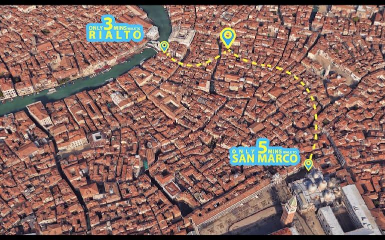 Apartamento luminoso en el corazón de Venecia