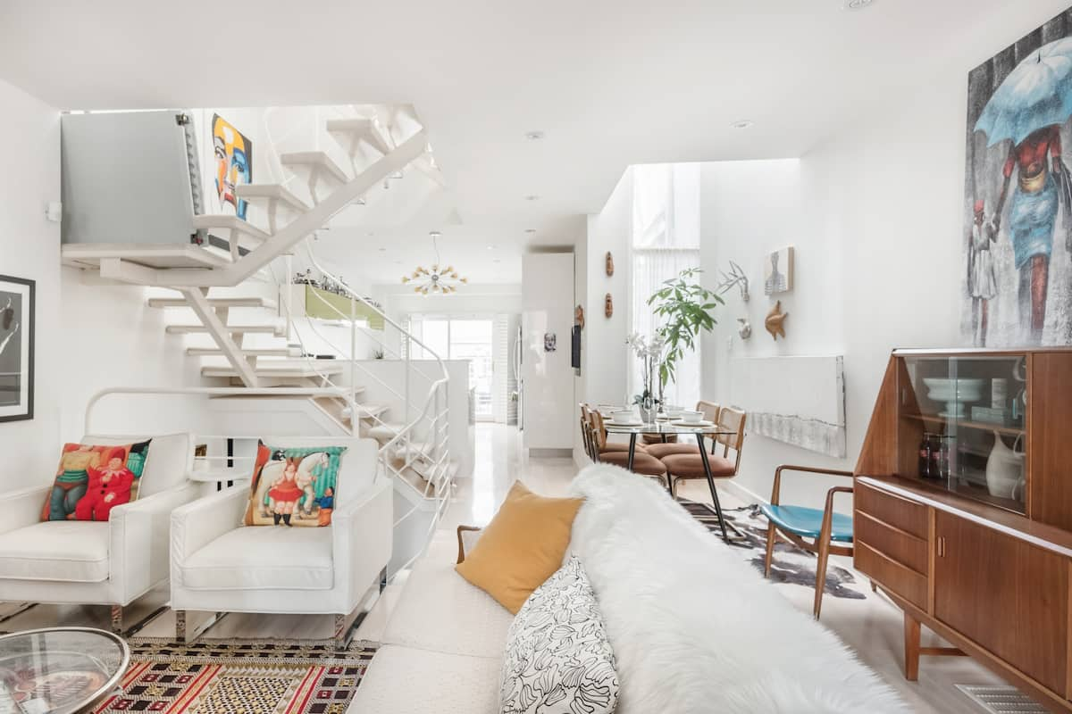 Curated Downtown Modern-Vintage Home with Four Patios