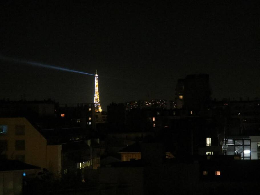 View at night - The Eiffel Tower is even more beautiful