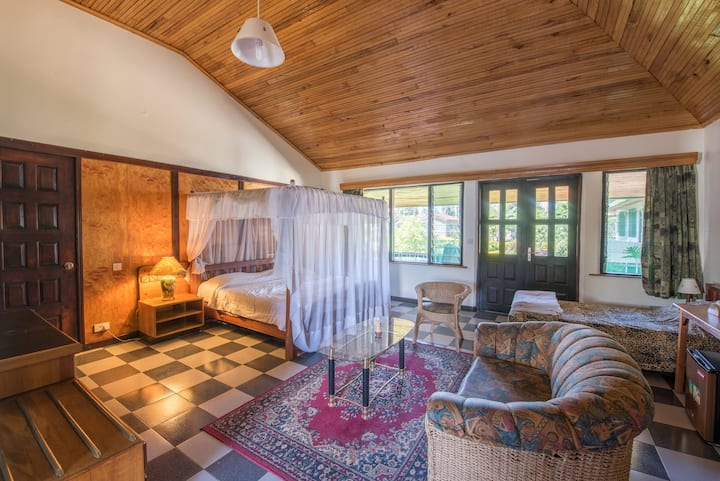 Deluxe Suite  in a clean, serene, and secure lodge