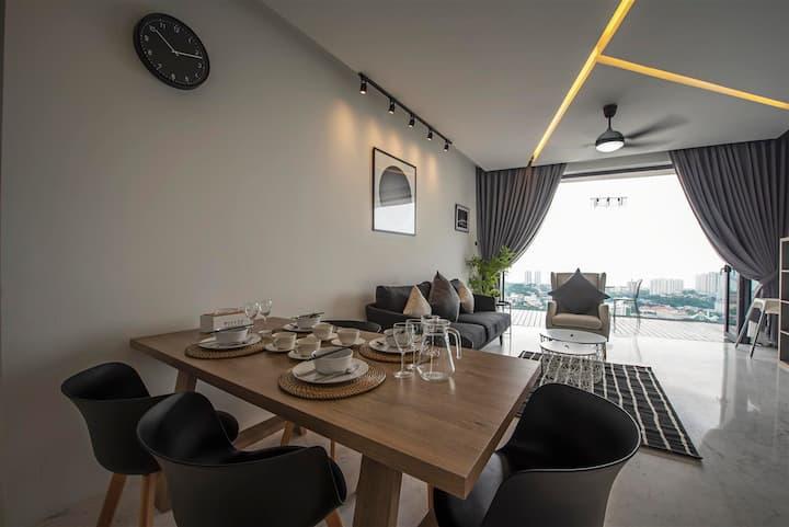 Fantastic Seaview ★Arte S★ 500MbpsWIFI @ 3房式豪华海景公寓