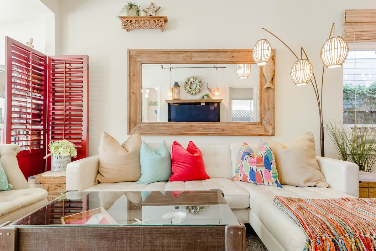 Walk to the Beach from an Eclectic, Cottage-style House