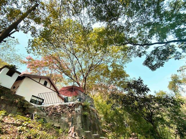 如也隐西|隐 西湖边独栋日式林中屋,步行西湖河坊街鼓楼南宋御街10分钟,带庭院,近商场