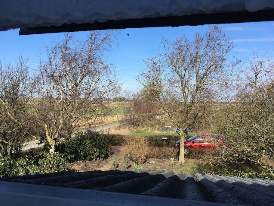 Blick aus dem Küchenfenster ins Eiderstedter Land