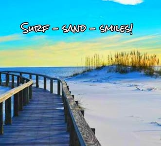 FUN & BRIGHT $95nt Surf-Sand-Smiles  STEPS 2 SAND! - Gulf Shores