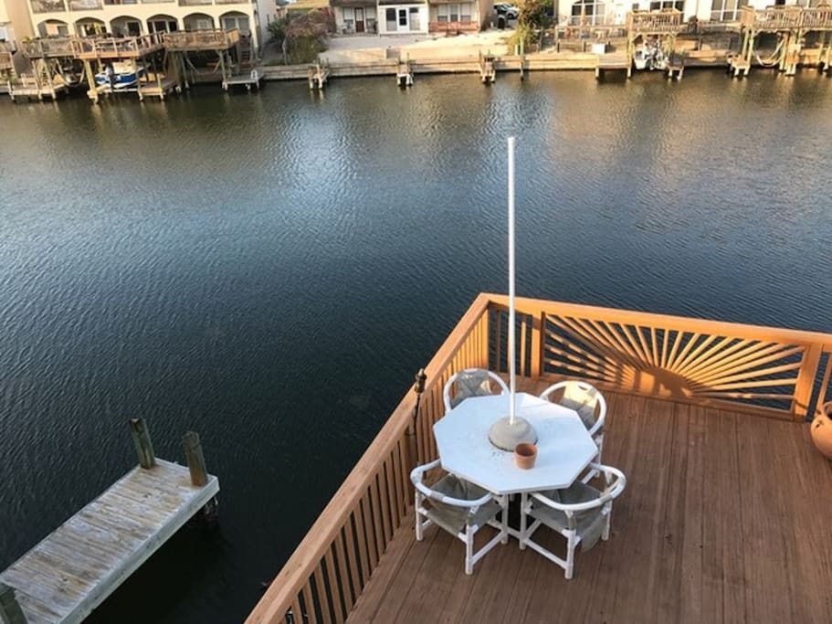 Private Sundeck On The Water With Private Covered Boat and Jet Ski Lift