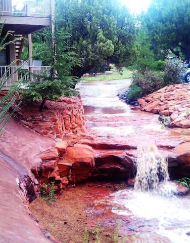 Creek run off during rain