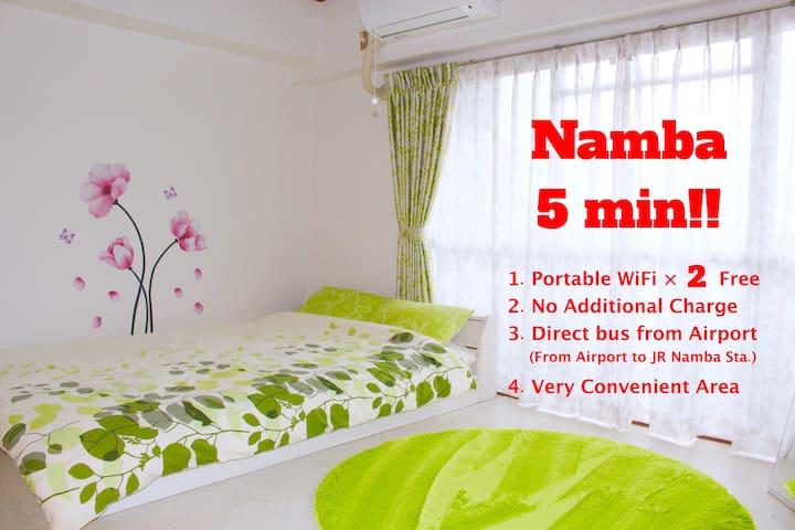 Namba 5min/FreeWifi/Very convenient - Ōsaka-shi Naniwa-ku - Apartment