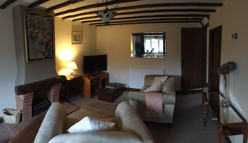 Comfortable Lounge, with SKY TV, Sonos sound speaker, large flatscreen TV, electric log burner, Dining Table with 3 chairs