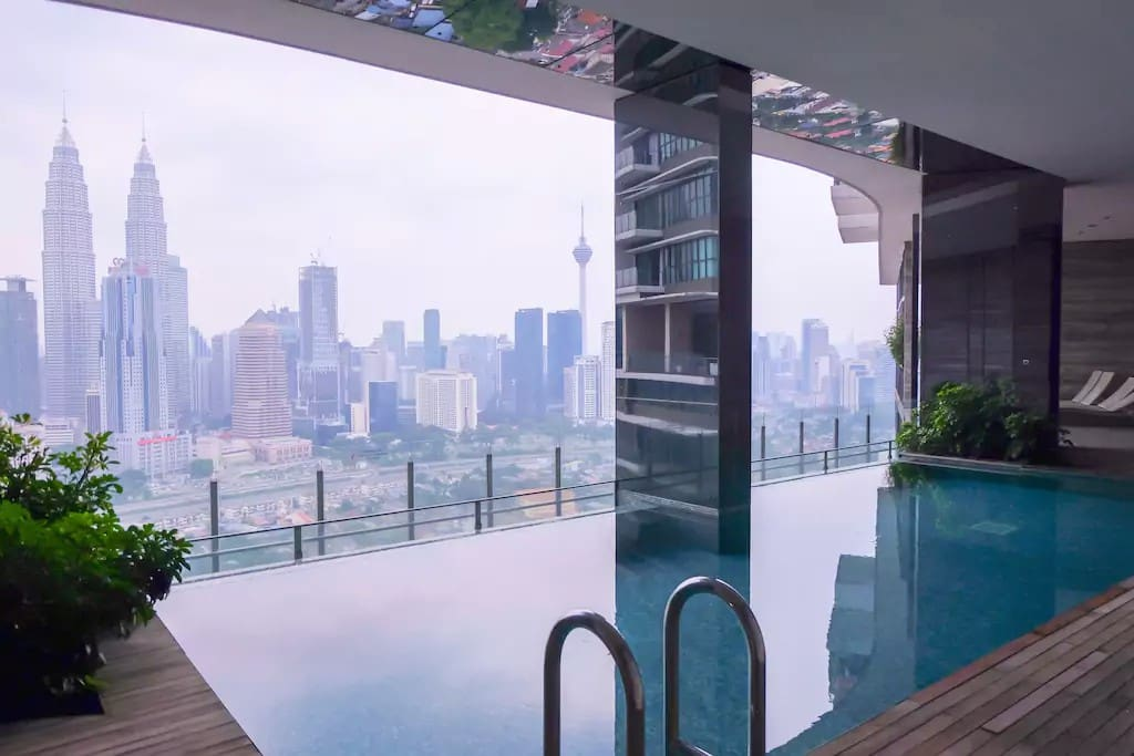 Touch the sky at Level 33A Sky Club while indulging in the intoxicating panoramic view of Kuala Lumpur inside the infinity pool