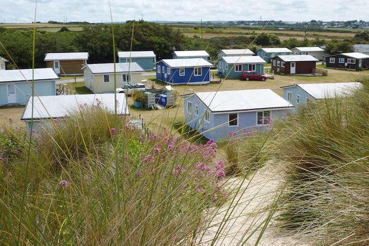 Oystercatcher, seen above, sits among a small group of holiday homes.