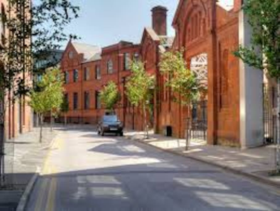 Street view, 5 mins walk from Deansgate / Northern Quarter