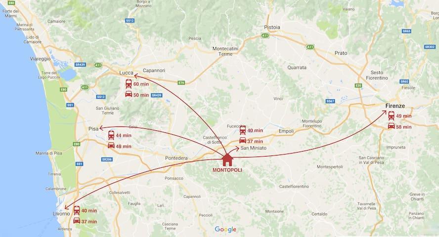 Toscana tra Firenze e Pisa: Montopoli Val d'Arno