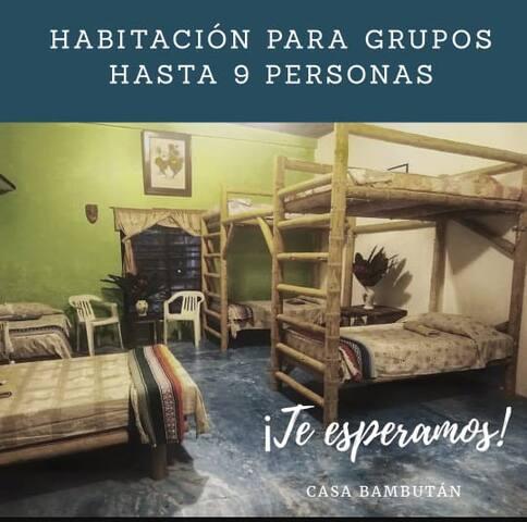 DORMITORIO COMPARTIDO - CASA BAMBUTÁN (6 personas)