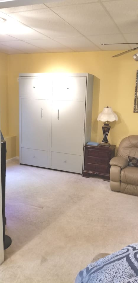 Guest queen size Murphy bed closed